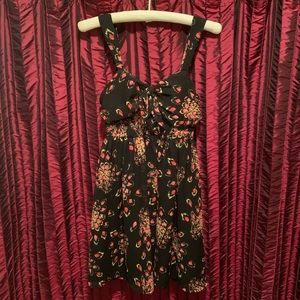 Black floral print Candies dress